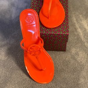 Poppy Coral Mini Miller Flat Thong